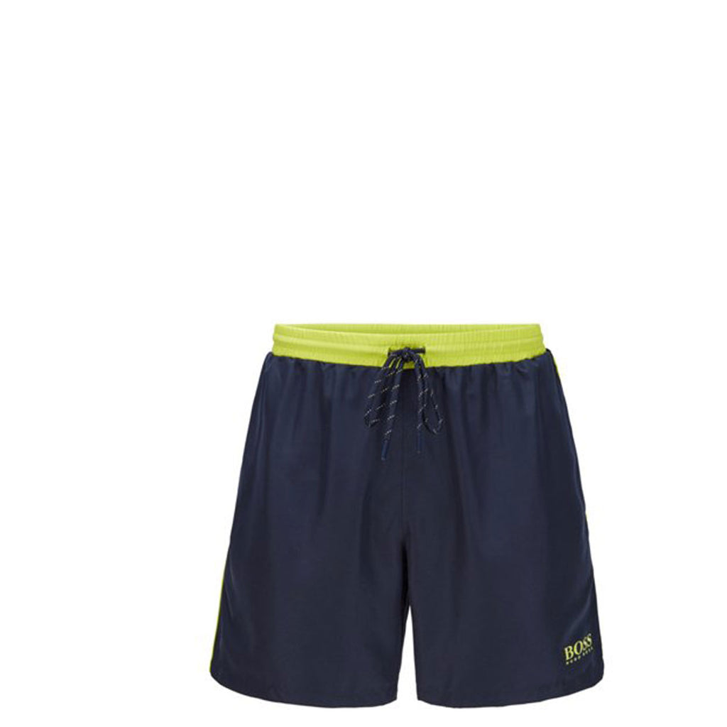 Hugo Boss Navy Medium-Length Swim Shorts