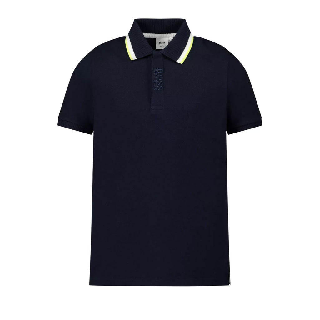 Hugo Boss Kids Navy Embroidered Polo Shirt