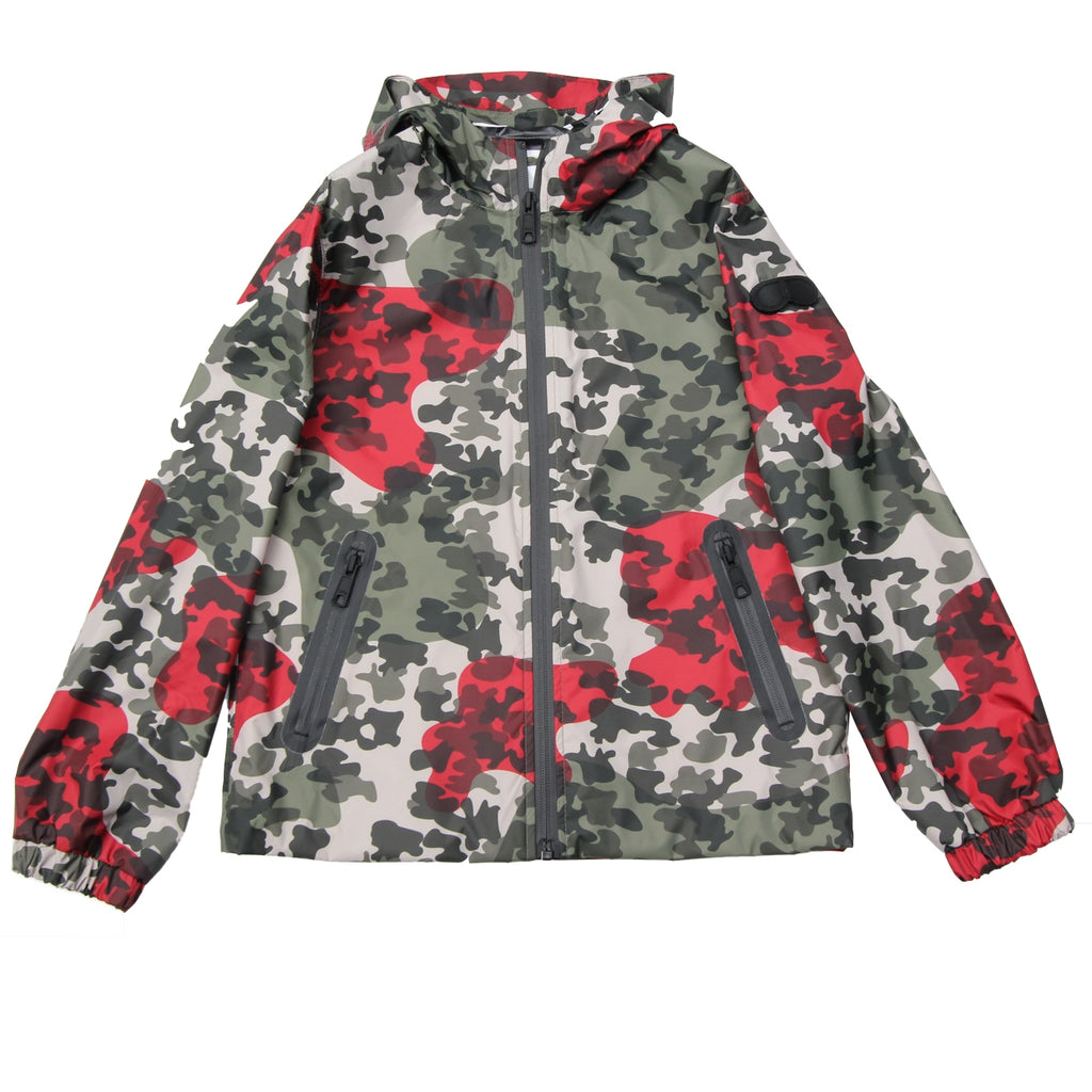 AI Riders on the Storm Kids Camo Printed Bomber Jacket