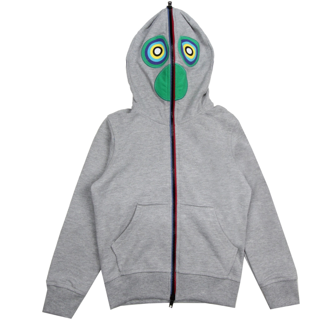 AI Riders on the Storm Kids Printed Patch Grey Hooded Zip Top