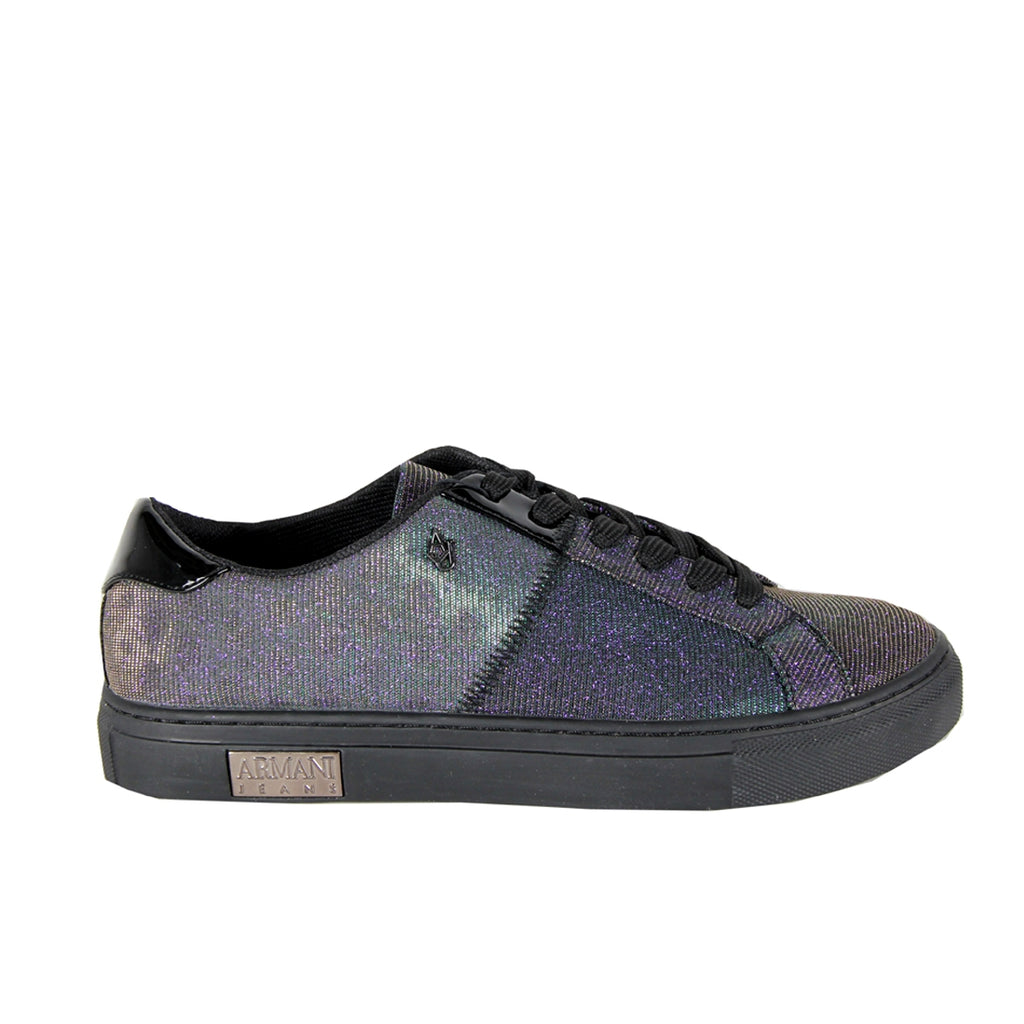 Armani Jeans Glitter Detail Multi Color Trainers