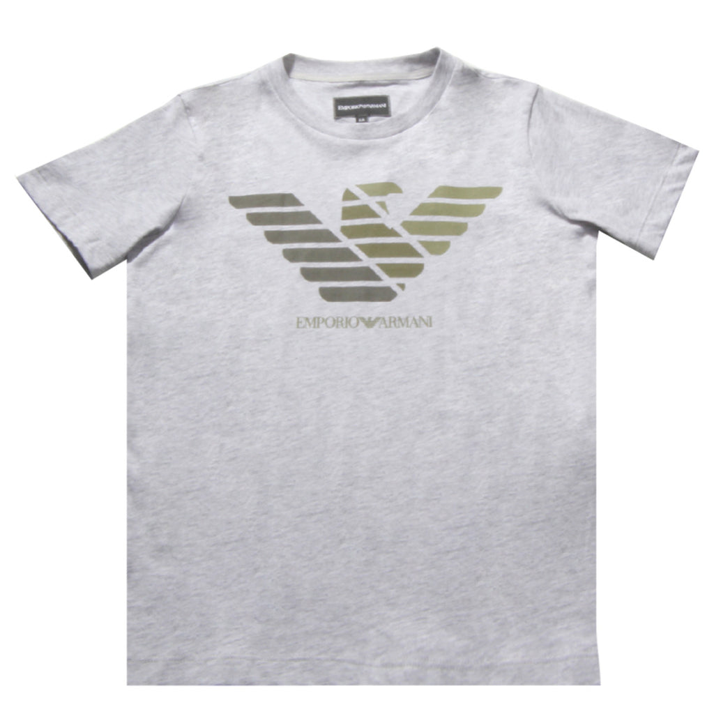 Armani Junior Grey Chest Logo T-shirt