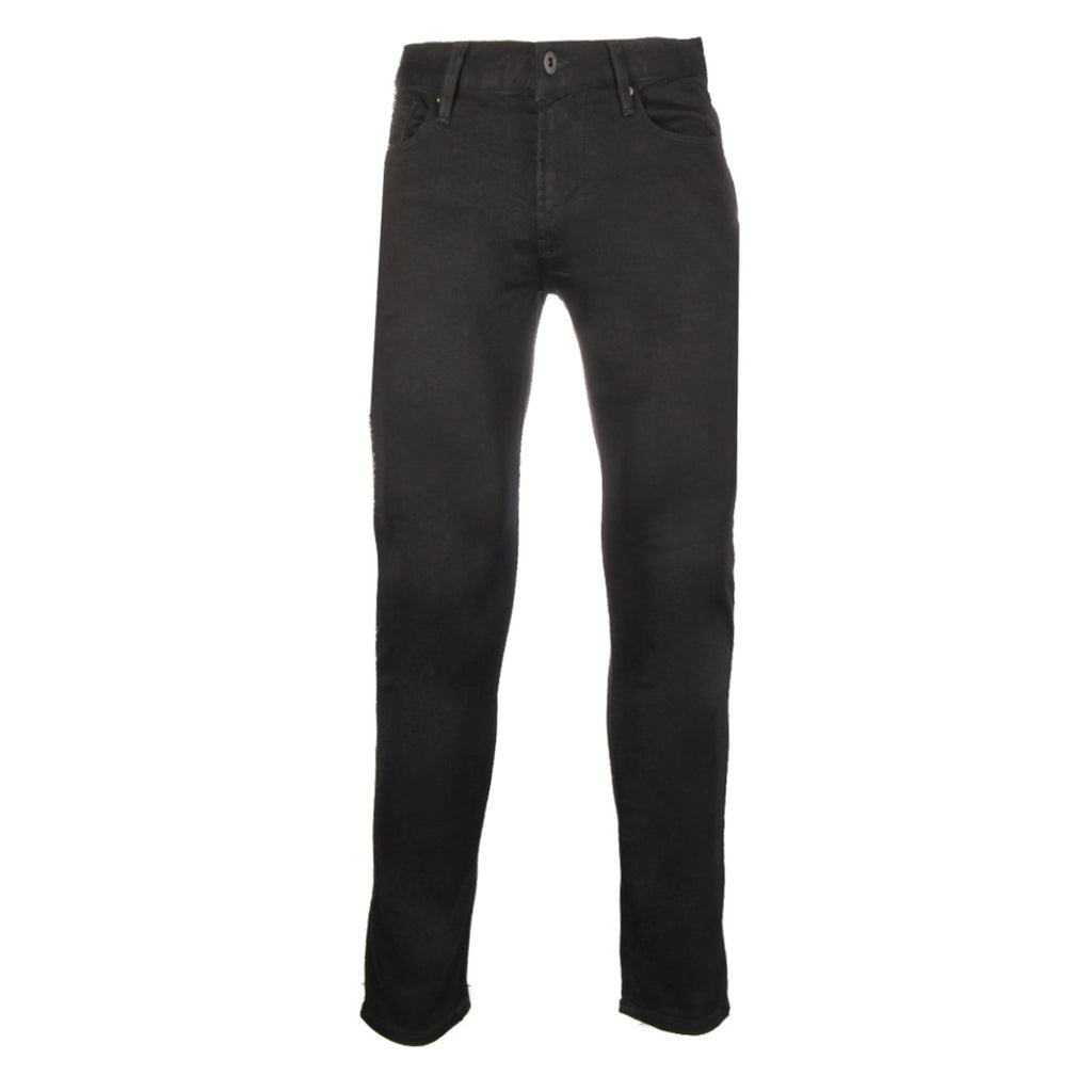 Emporio Armani Black Logo Patch Jeans