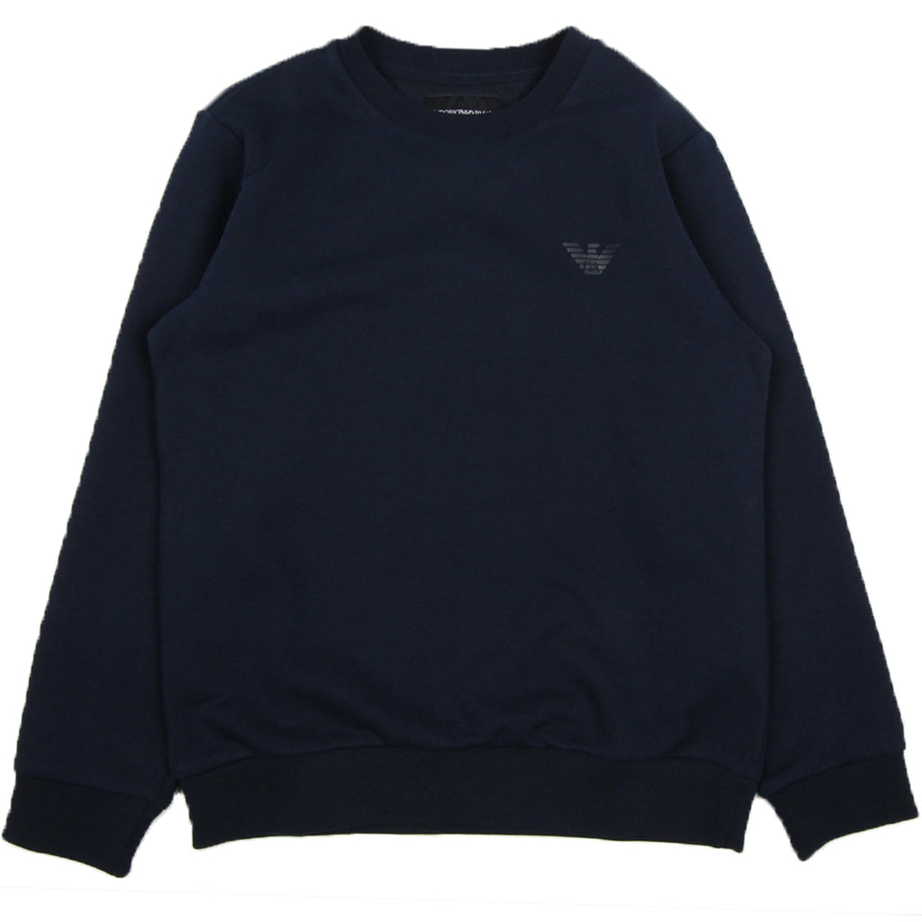 Armani Junior Logo Navy Sweatshirt