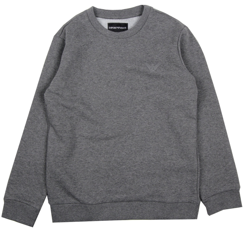Armani Junior Logo Grey Sweatshirt