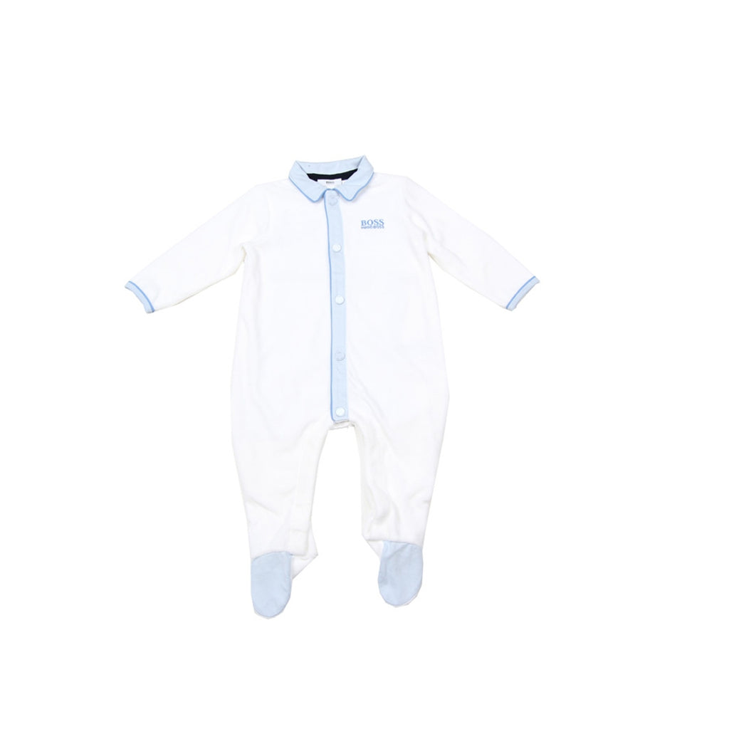 Hugo Boss Logo White Baby Grow Set