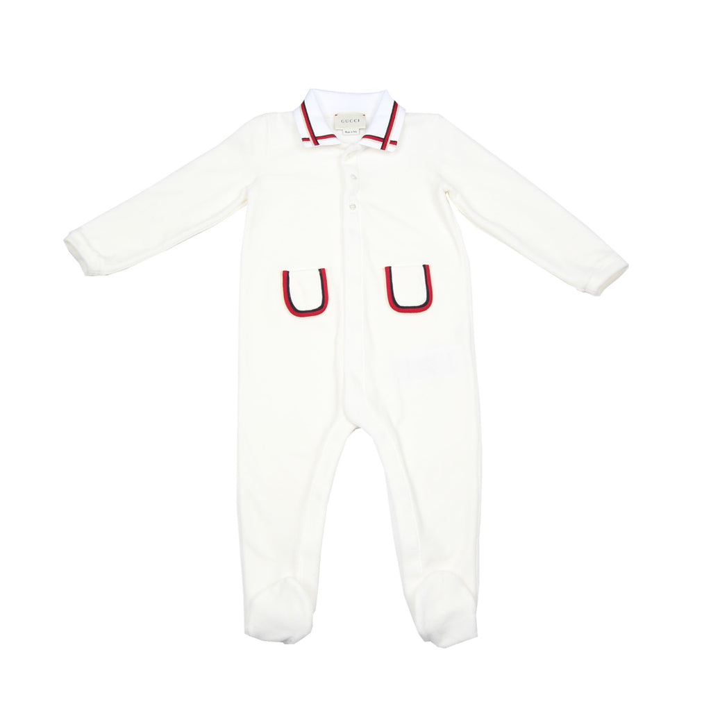 Gucci White Babygrow Set