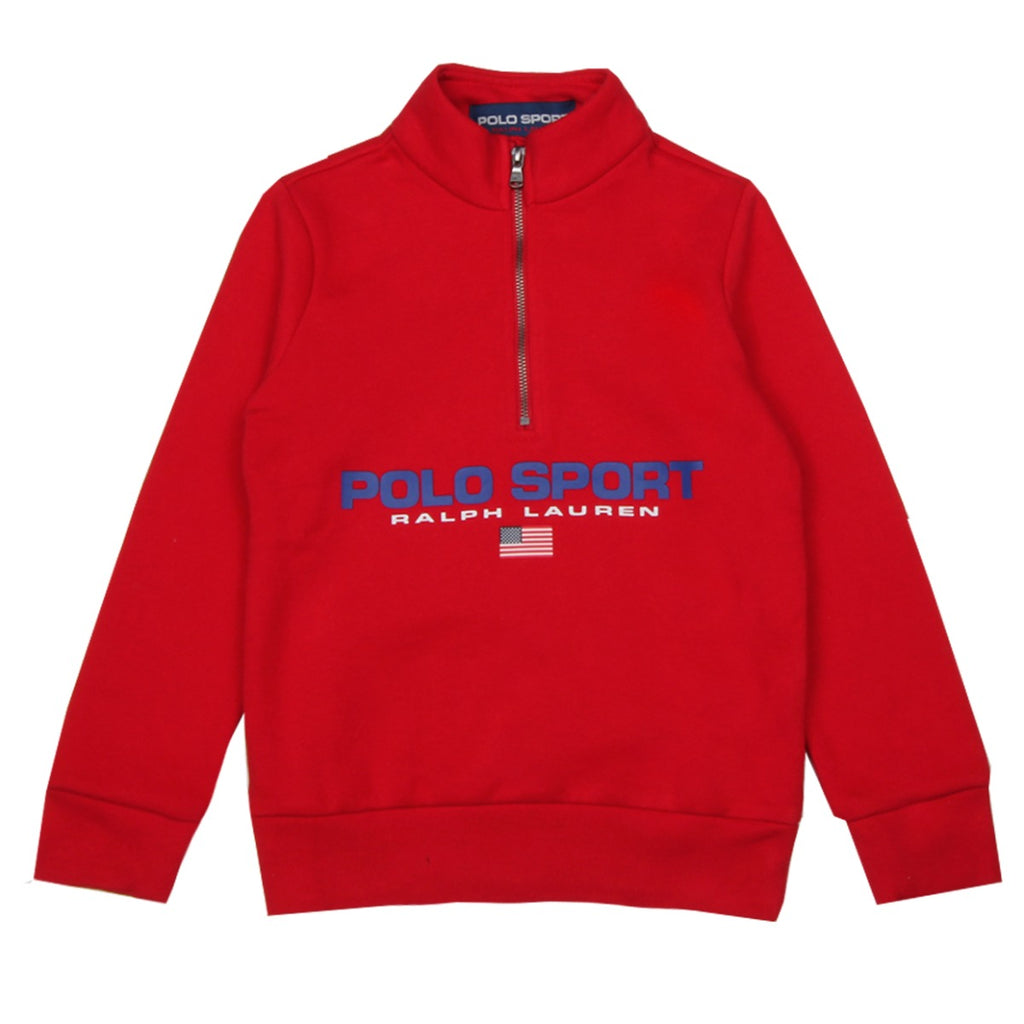 Ralph Lauren Junior Red Chest Logo Sweatshirt