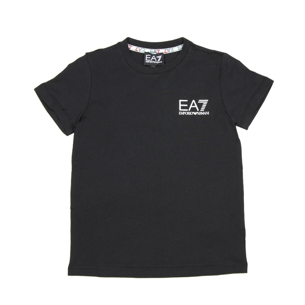 EA7 Junior Chest Logo Black T-Shirt