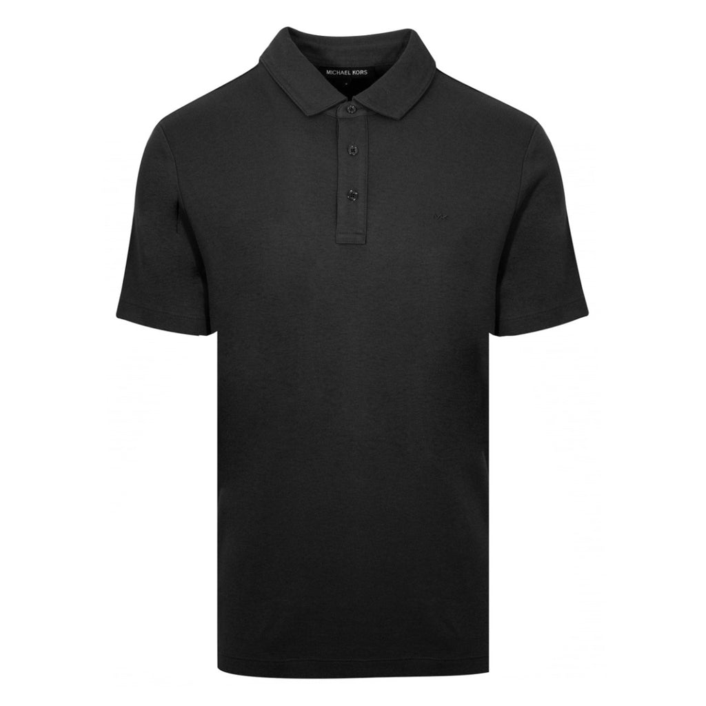 Michael Kors Solid Black Polo Shirt