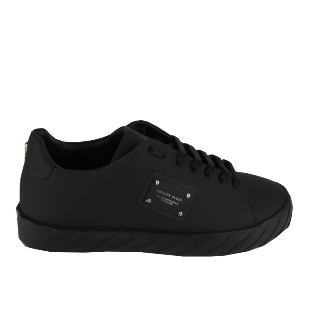 Philipp Plein Black Lo-Top Trainers