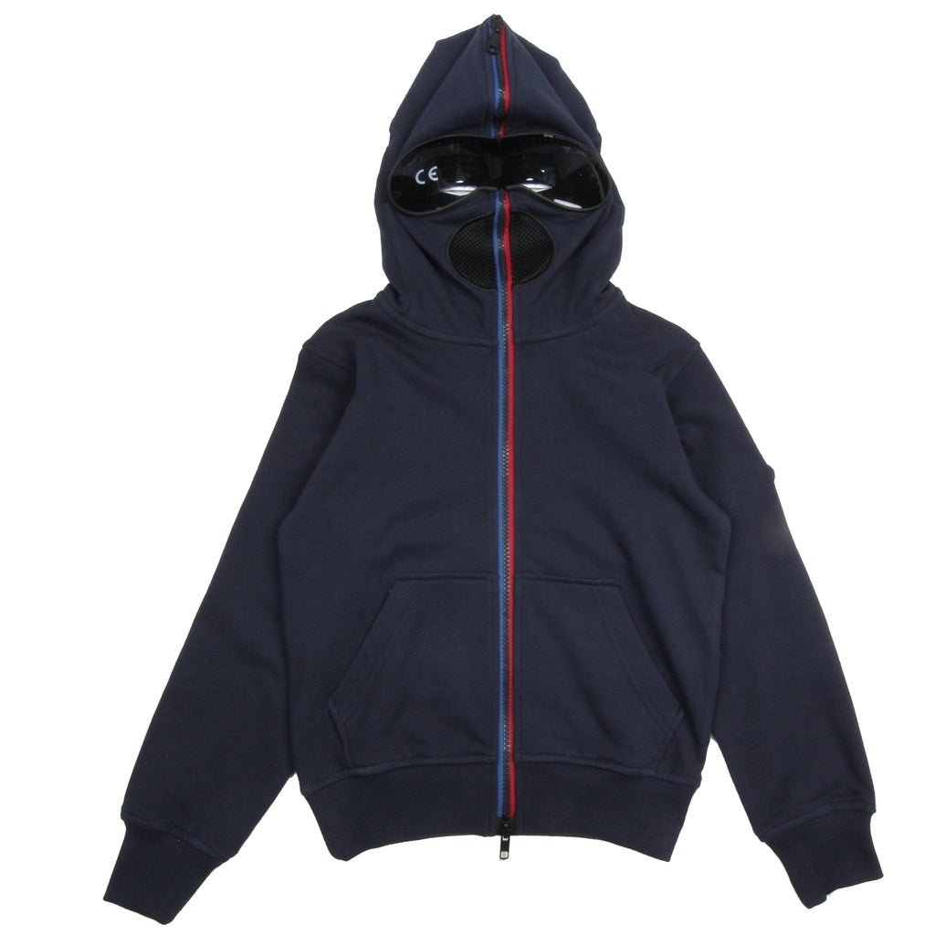 AI Riders on the Storm Kids Unisex Navy Hooded Zip Top