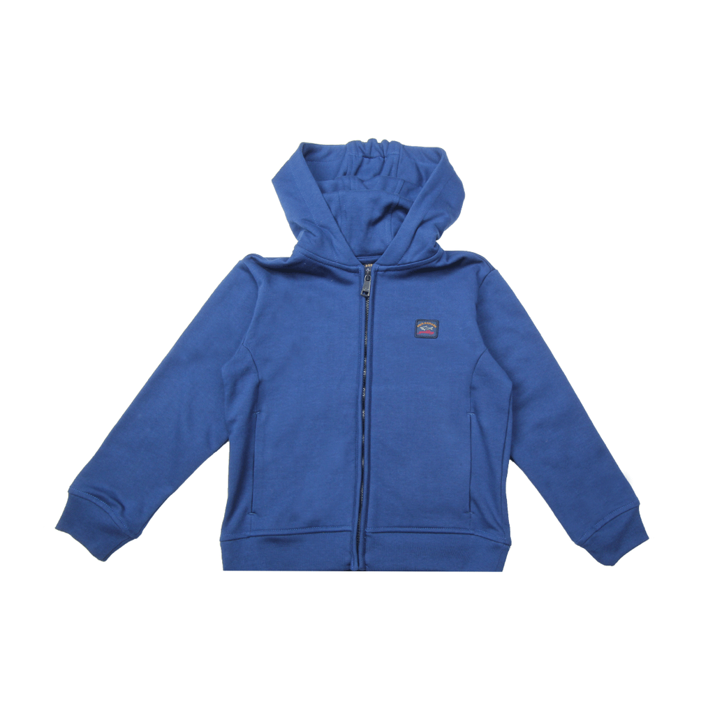Paul & Shark Kids Chest Logo Blue Zip Top