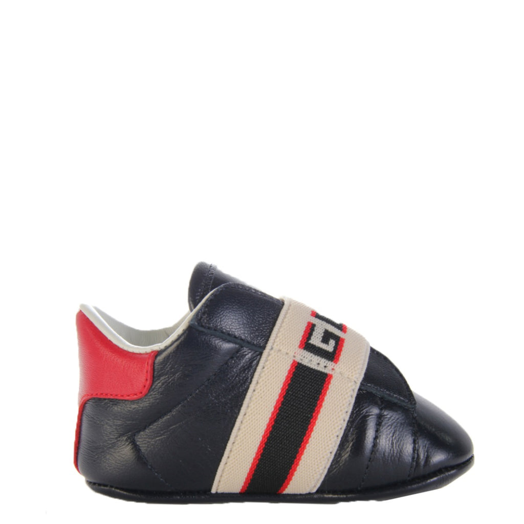 Gucci Kids Ace Shoes With Gucci Stripe