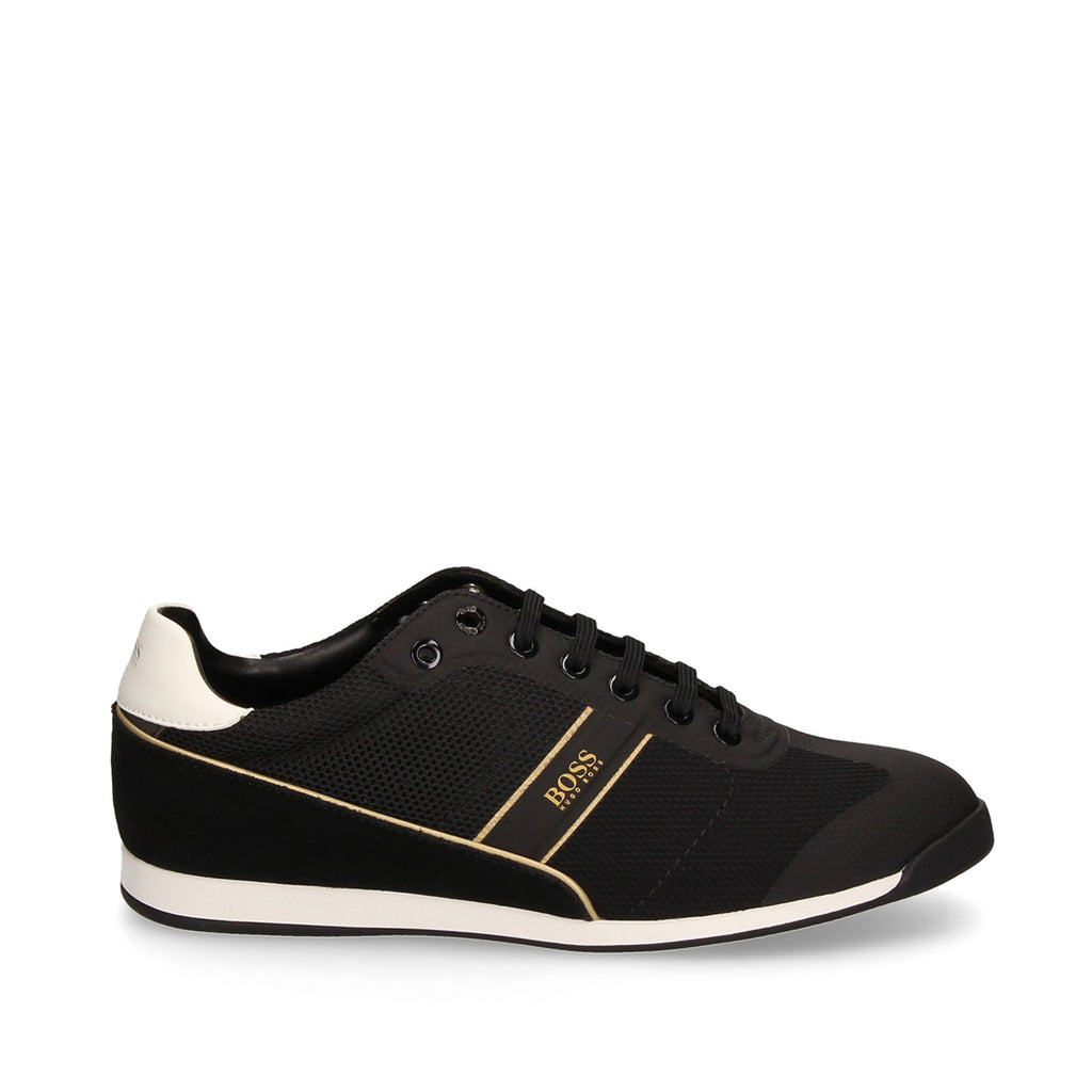 Hugo Boss Suede Accents Mesh Trainers