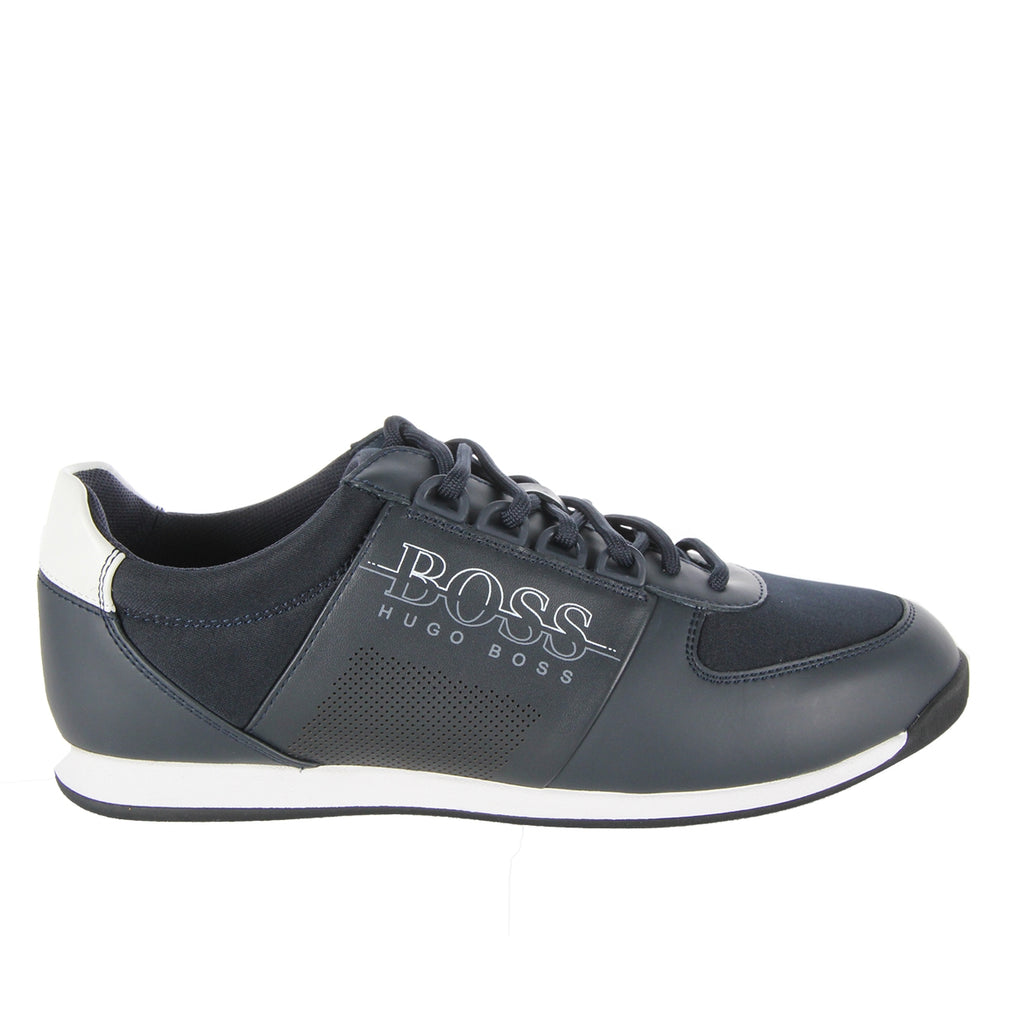 Boss Green Maze Lowp Navy Trainers