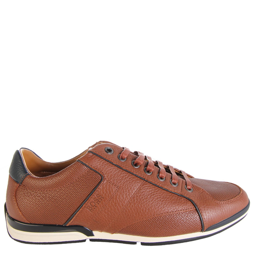 Boss Saturn Low Top Medium Brown Trainers