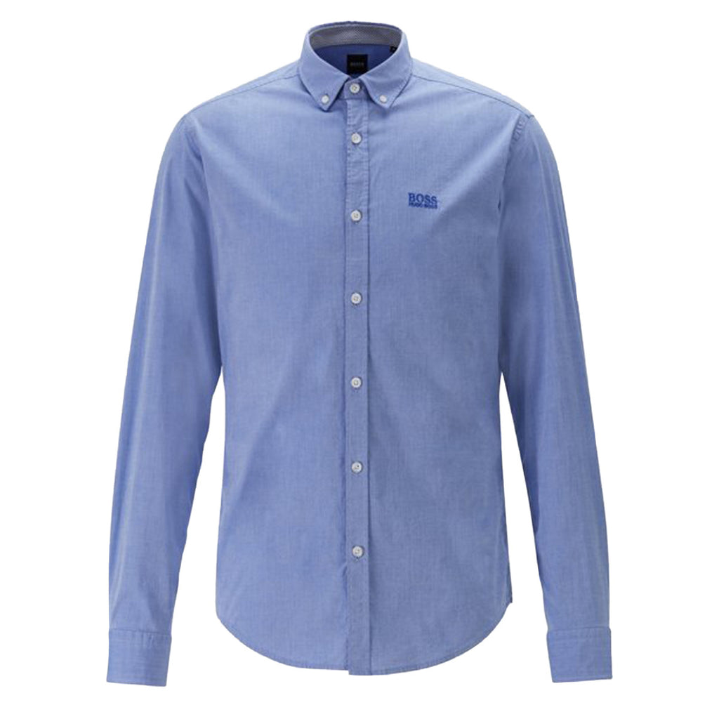 Hugo Boss Blue Chest Logo Shirt