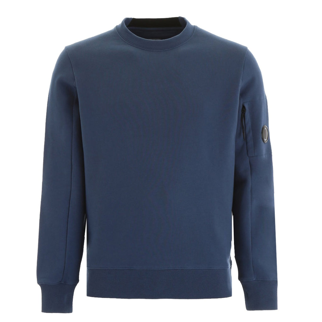 C.P. Company Blue Diagonal Raised Fleece Sweatshirt