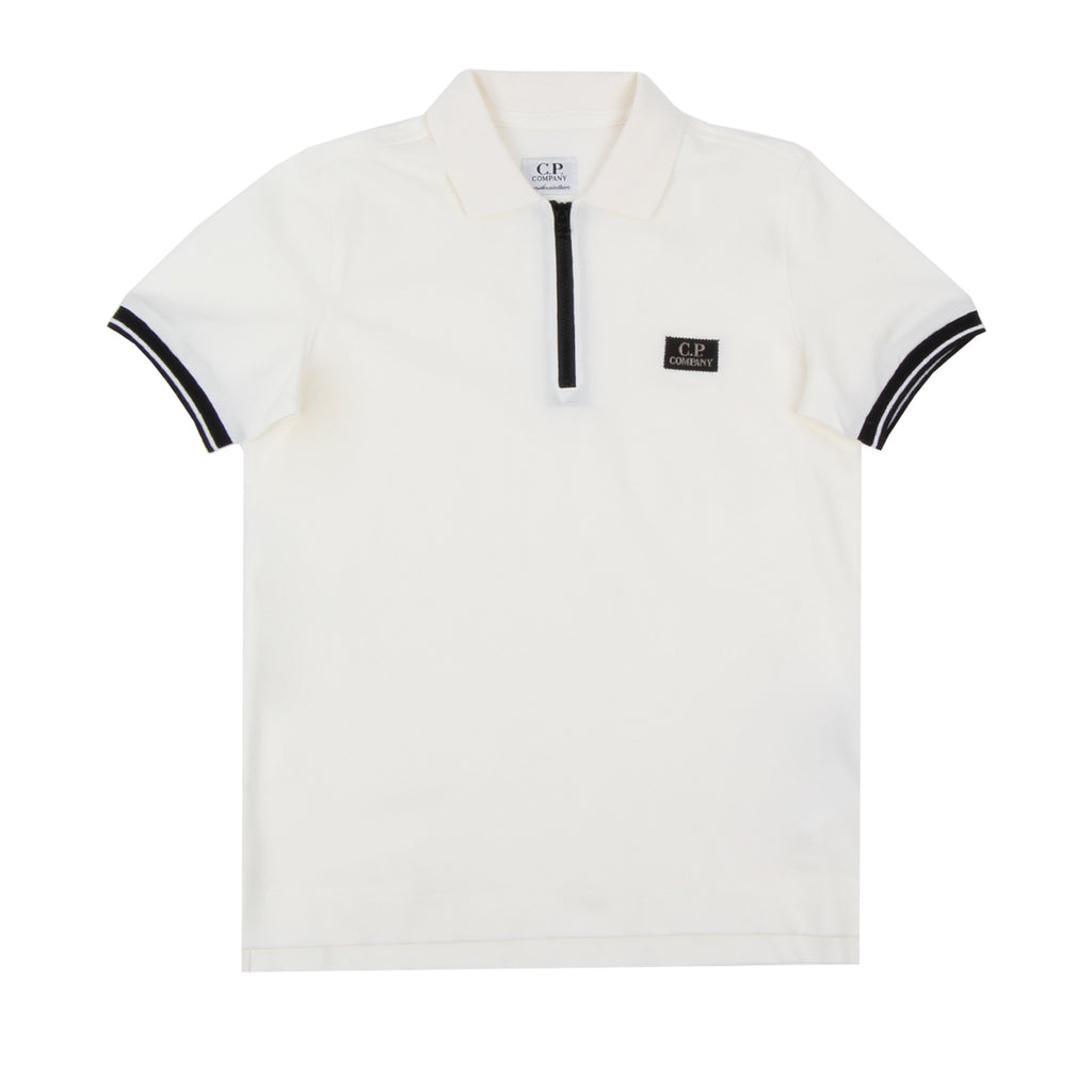 C.P. Company Undersixteen Logo Patch Polo Shirt
