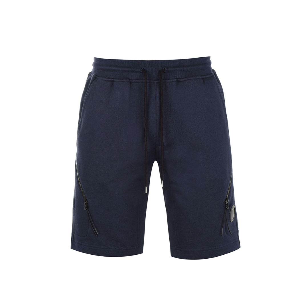 C.P. Company Navy Zip Lens Jogging Shorts