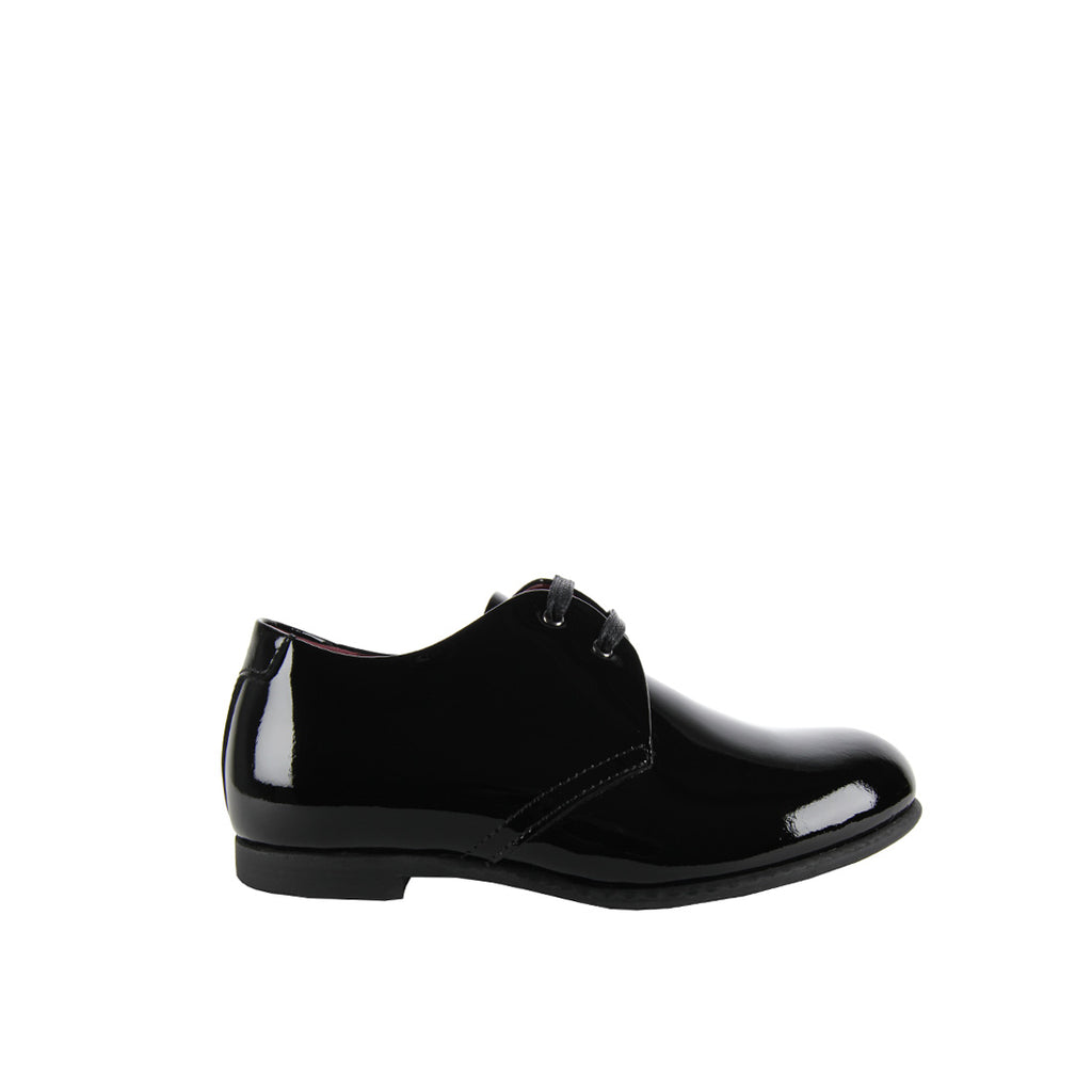 Dolce & Gabbana Black Patent Derby Shoes