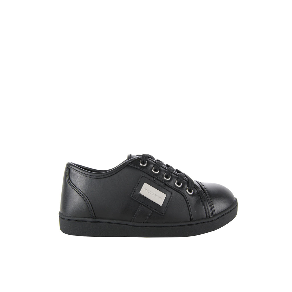 Dolce & Gabbana Nappa Leather Black Sneakers