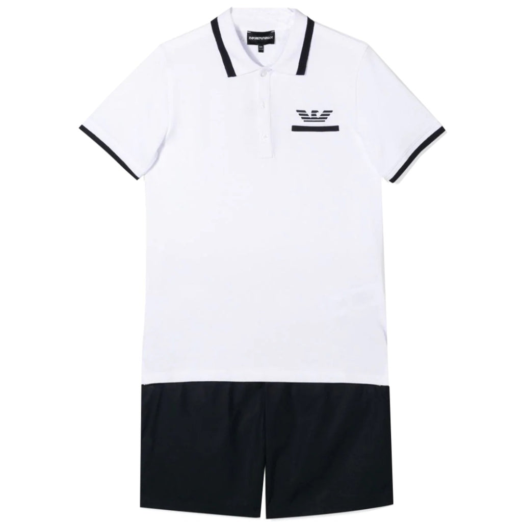 Armani Junior Polo Two-Piece Set