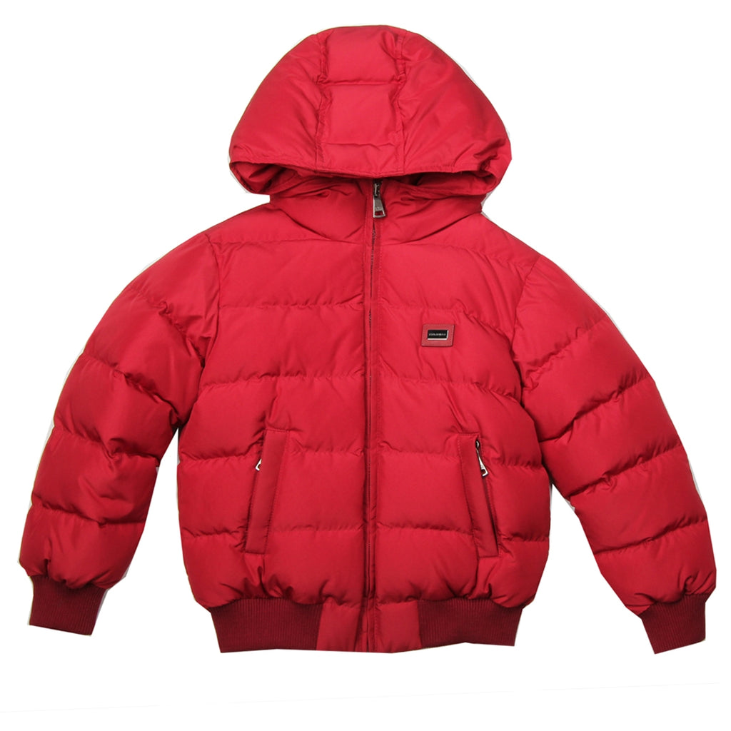 Dolce & Gabbana Kids Red Down Jacket
