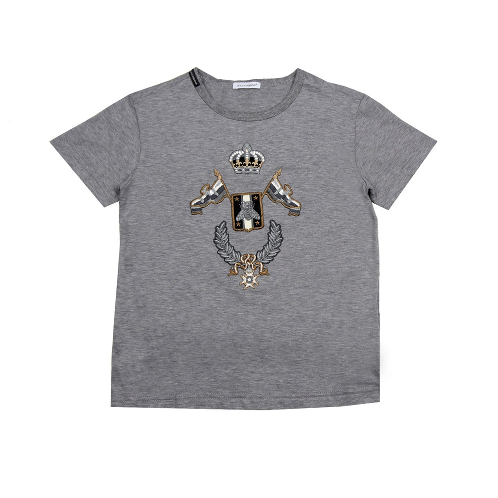 Dolce & Gabbana Kids Royalty Grey T-Shirt