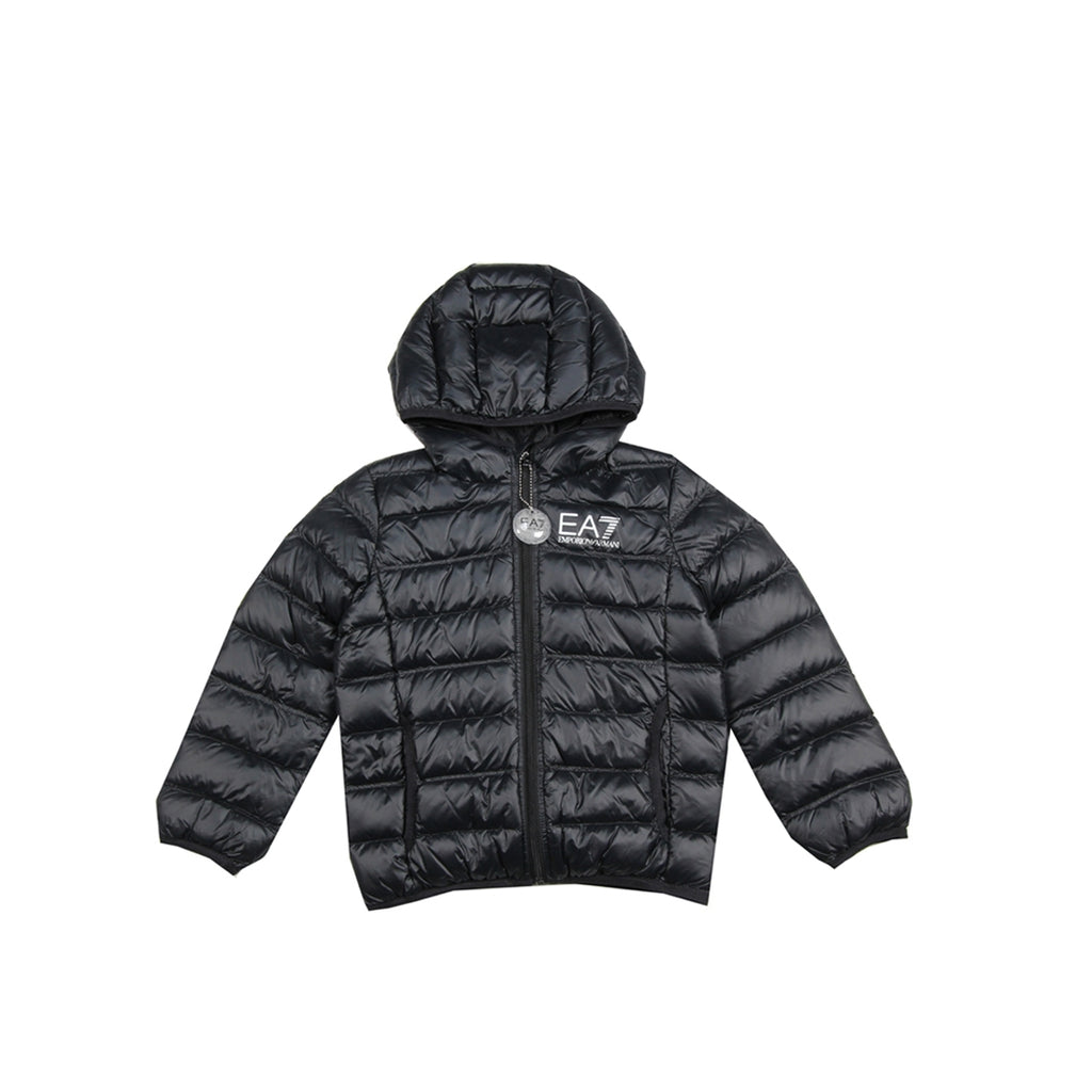 EA7 Junior Black Puffer Jacket