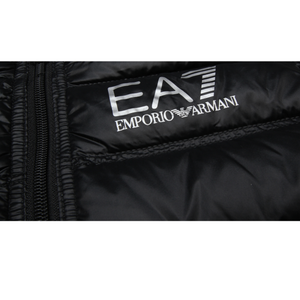EA7 Junior Logo Black Down Jacket