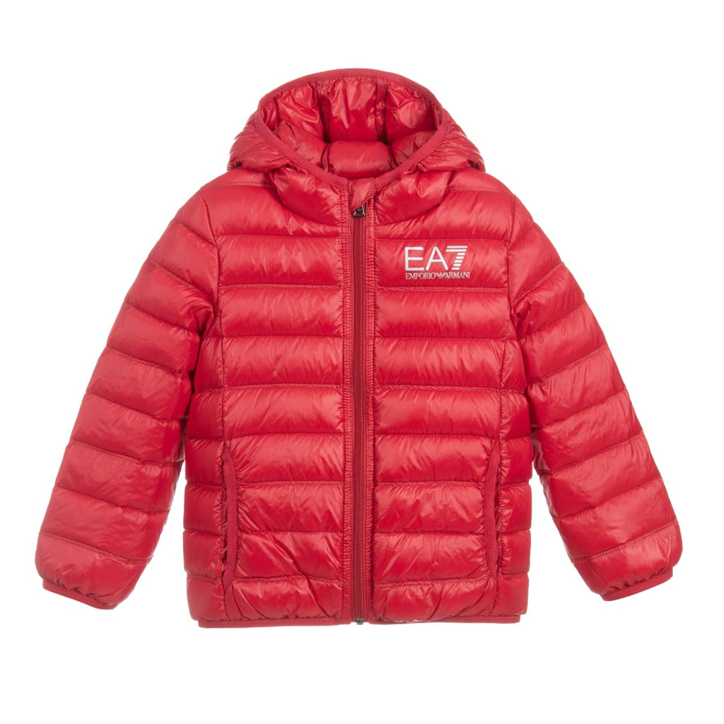 EA7 Junior Red Down Jacket