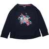EA7 Girls Flower Logo Navy Top