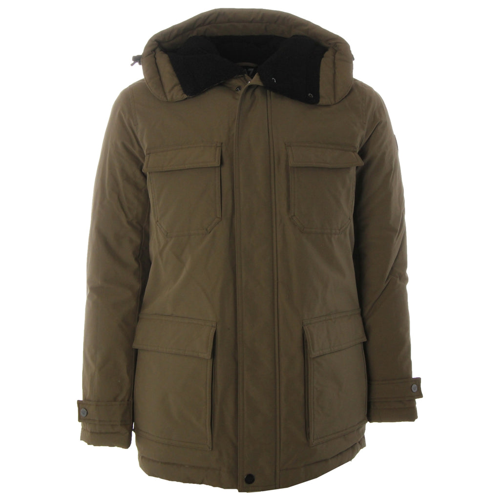 EA7 Stone Grey Down Jacket