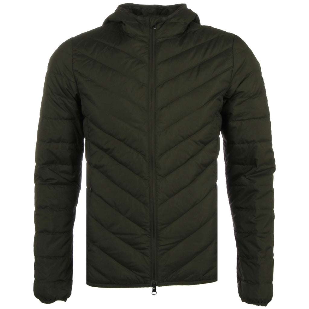 EA7 Quilted Green Down Jacket