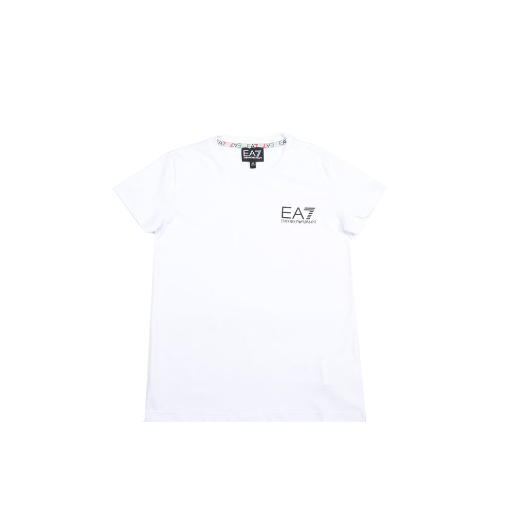 EA7 Junior Logo White T-Shirt