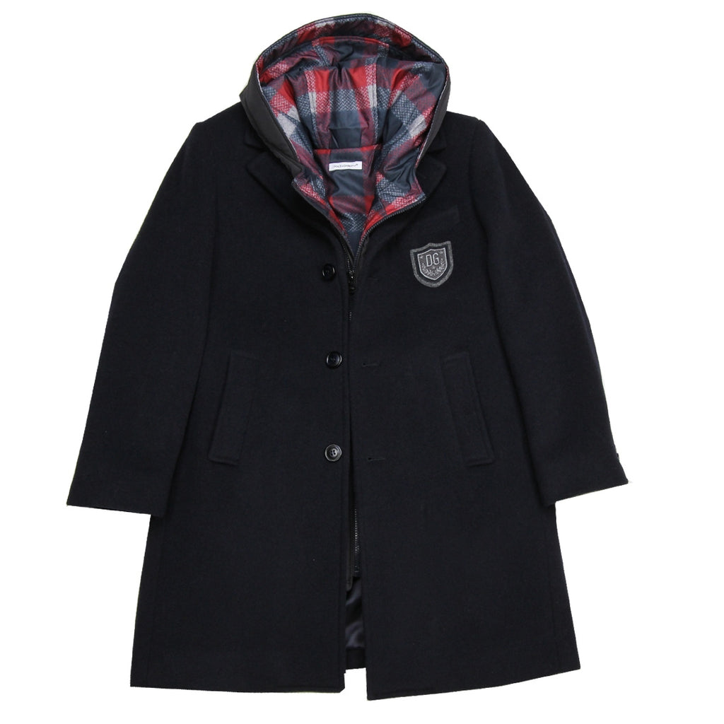 Dolce & Gabbana Kids 3-in-1 Navy Coat