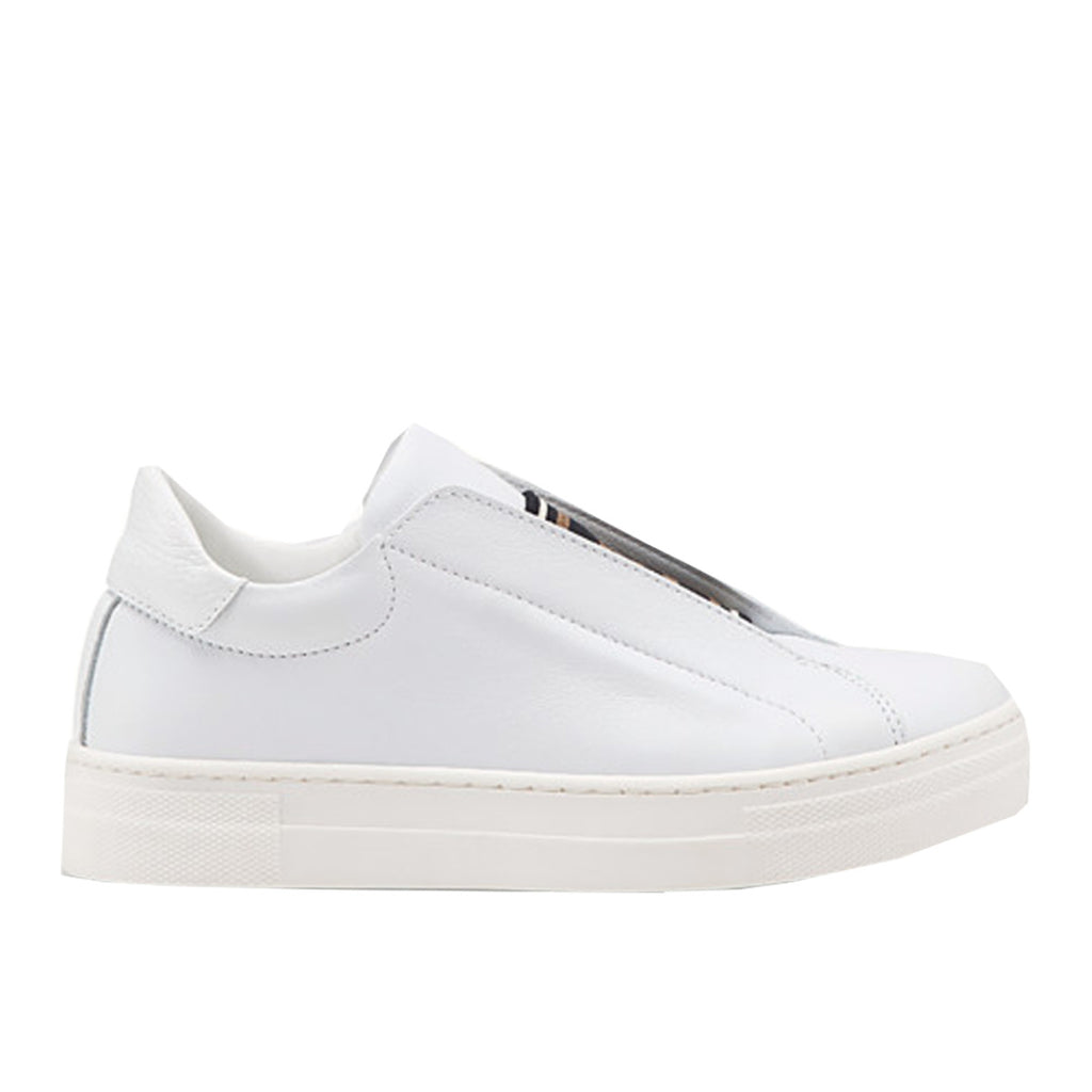Fendi Junior White Rockoclick Knit Logo Slip-On Trainers