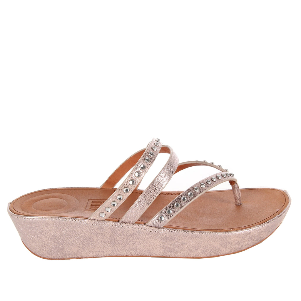 Fitflop Linny Criss Cross Blush Metallic Sandal