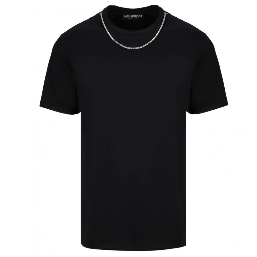 Neil Barrett Black Necklace Jersey T-shirt