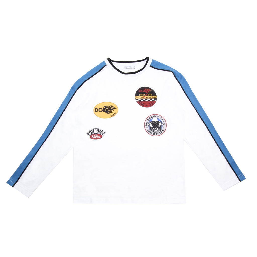 Dolce & Gabbana Kids Motor Club White Top
