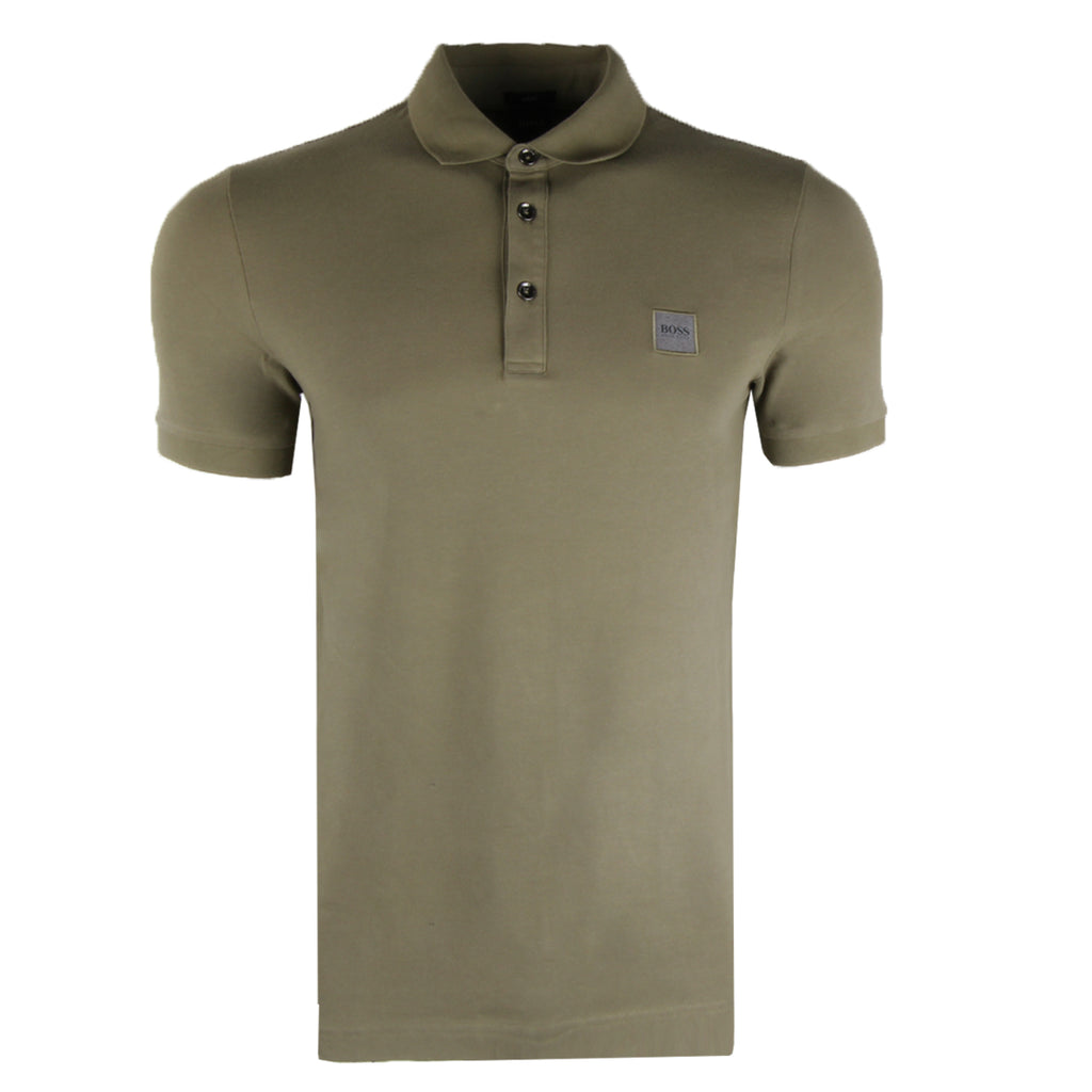 Hugo Boss Washed Piqué Logo Patch Polo Shirt
