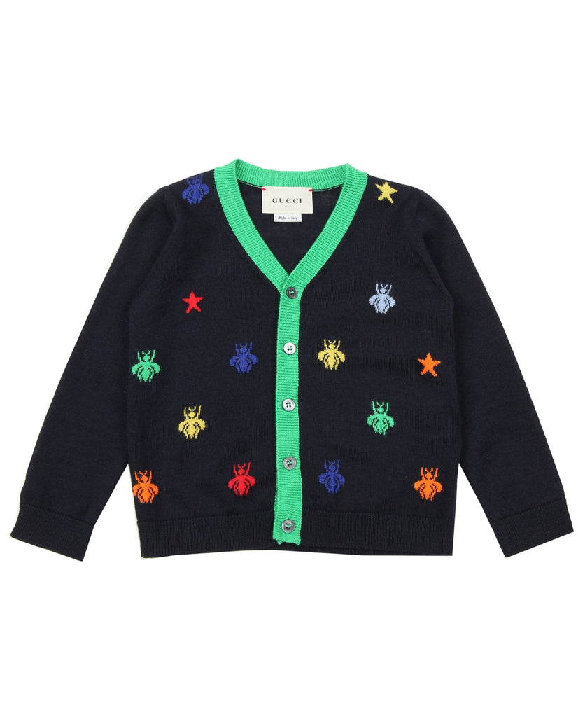 Gucci Baby Navy Wool Cardigan