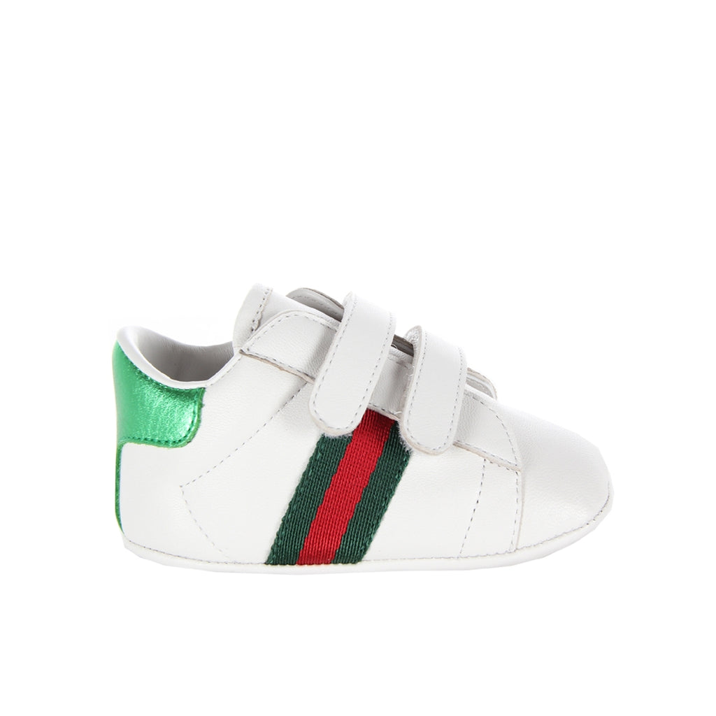 Gucci Baby Web White Trainers