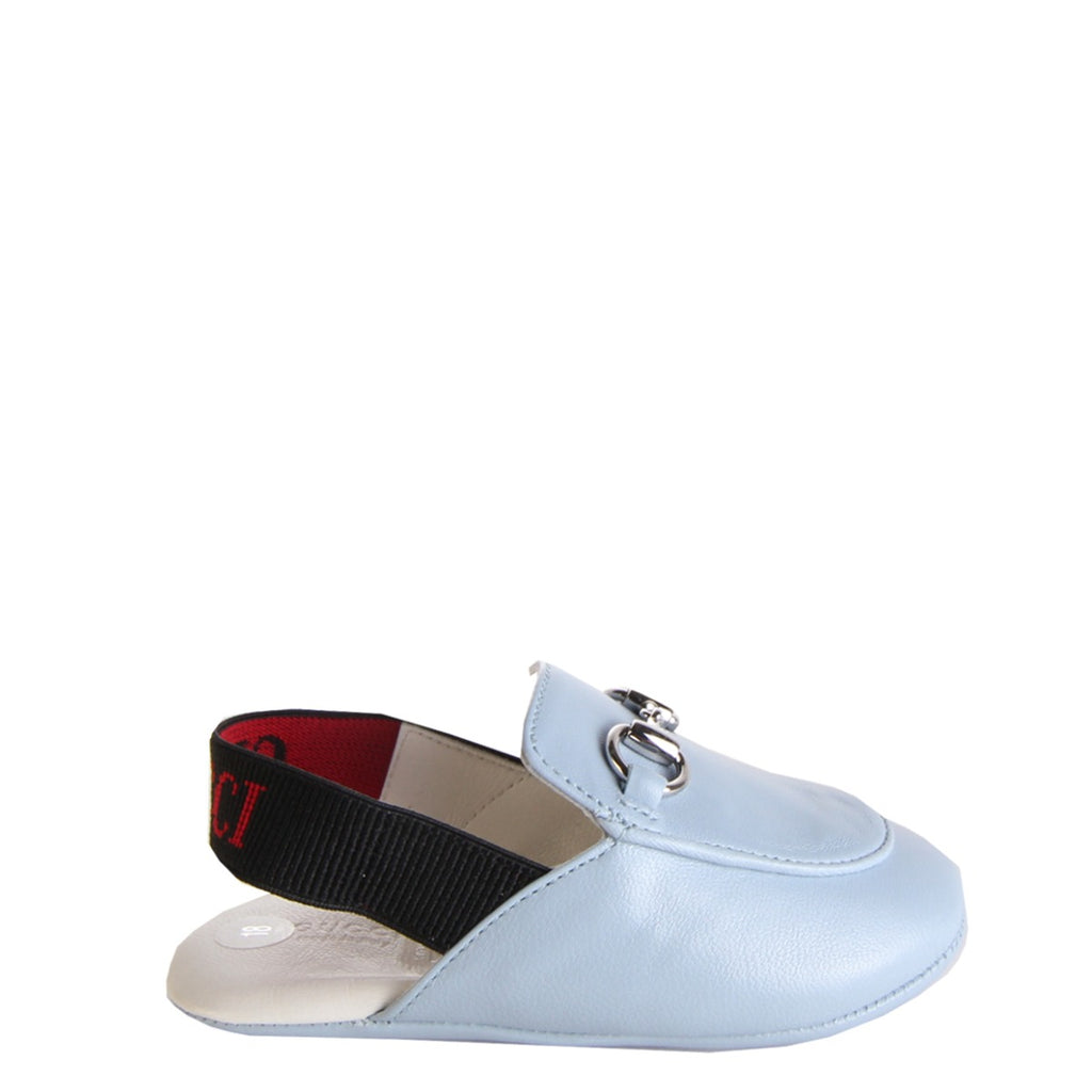 Gucci Baby Blue Leather Slipper