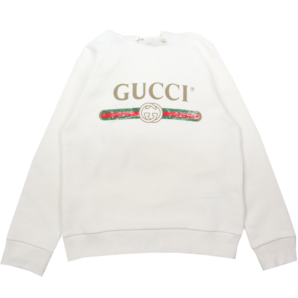 Gucci Kids Hooded Logo Print Sweatshirt