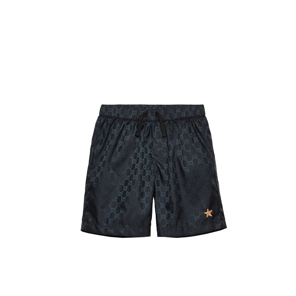 Gucci Boys GG Navy Nylon Swim Shorts