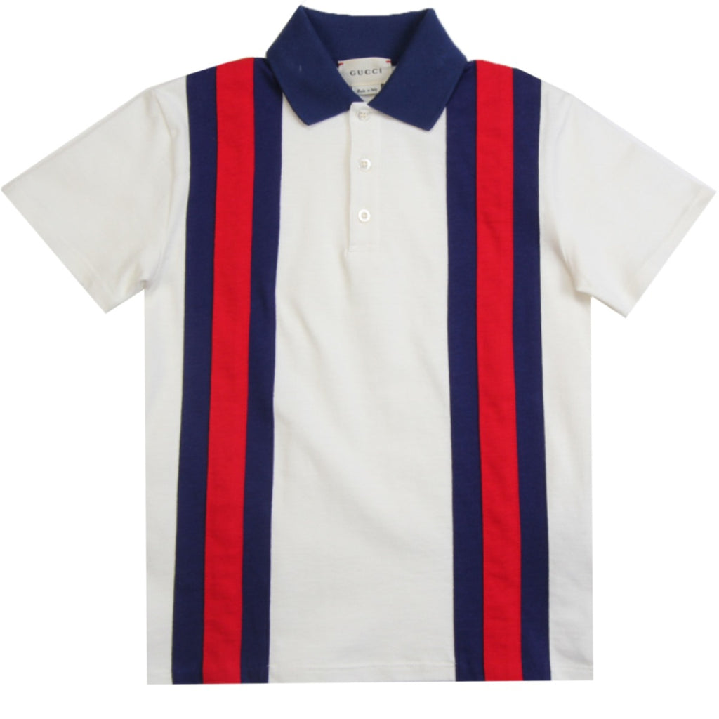Gucci Kids Colour Block Polo Shirt