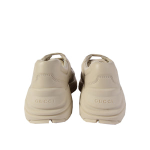 Gucci Rhyton Kids White Leather Trainers